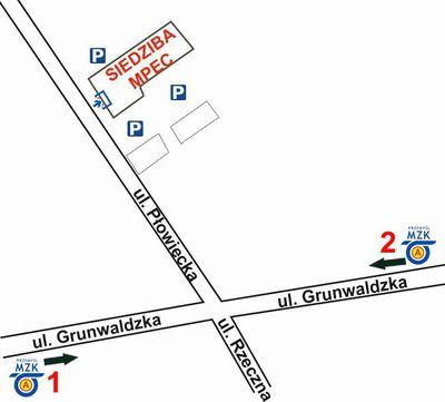 Mapa z lokalizacją siedziby MPEC